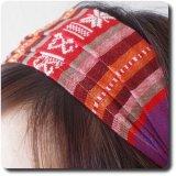 モン族刺繍柄のヘアバンド