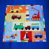 手縫いベトナムキルトのマルチカバー(はたらく車)1サイズ×2色