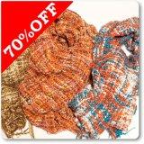 手編み風ざっくりマフラー