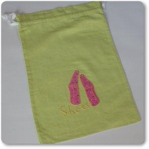 画像1: スリッポン柄巾着袋(高級リネン素材)全6色